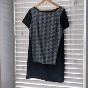 Armani Exchange boatneck shift dress black small